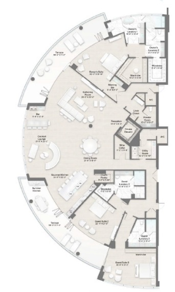 St Regis Longboat Key, Longboat Key Floor Plans